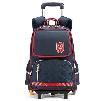 Niños Escolar Mochila Trolley Mochila - Niña Niño Con 6 Ruedas Equipaje De Viaje Para Niños Con Bolsa Trolley: Amazon.es: Equipaje