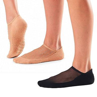 2 Pack Tavi Noir Womens Maddie Yoga Pilates Barre Grip Socks