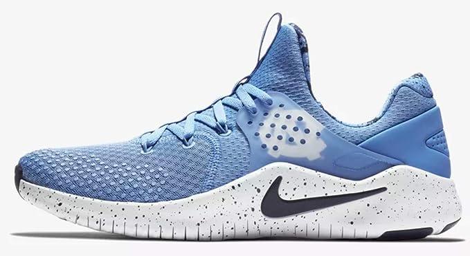 online store 2d742 70255 Nike Men s Free TR 8 North Carolina Training Shoes (Blue White, 8 M
