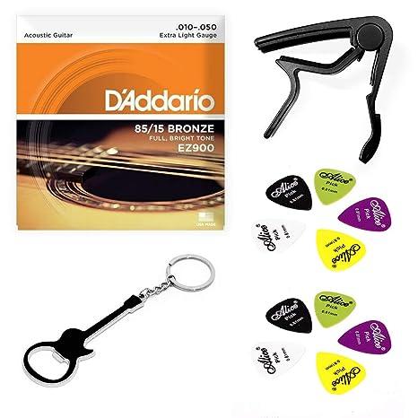 Kit Cuerdas y accesorios para guitarra acústica, incluye: 1 juego ...