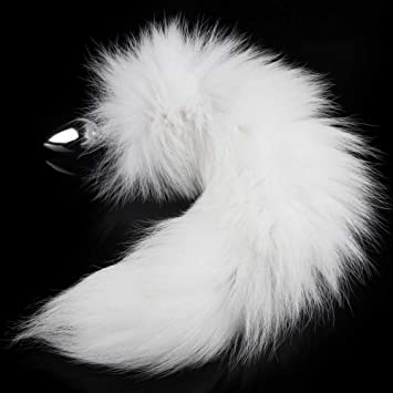 6a80f6265 Amazon.com  Utimi Wild Stainless Steel White Fox s Tail s Butt Plug ...