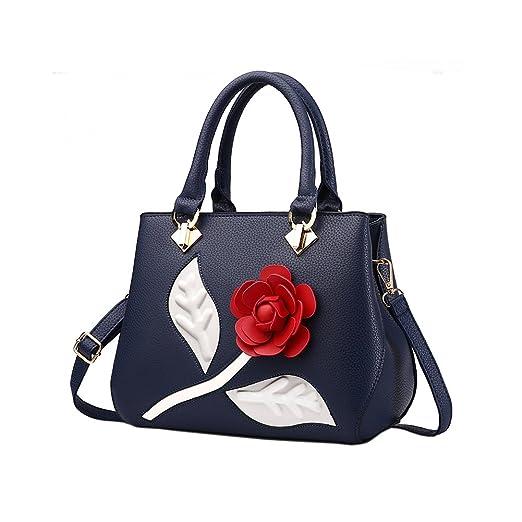 96aa916e85b0b Magic Zone Rose Damen Handtaschen Fashion Handtaschen für Frauen PU Leder  Schulter Taschen Messenger Tote Taschen