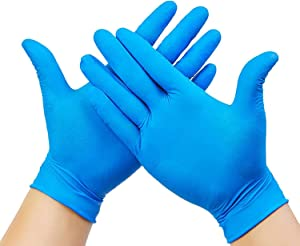 AVO+ 20 Pack Large Disposable Gloves, Hypoallergenic Latex Free Protective, Extra Strong Premium Nitrile Gloves, Ideal for Sensitive Skin, Anti Slip, Oil Free, Powder Free