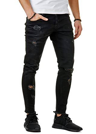 im Angebot 50ebd 058bf EightyFive Herren Denim Destroyed Jeans-Hose Skinny Fit ...
