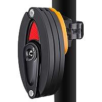 SGODDE Serrure de Vélo, Vélo Antivol Pliante 3 clés, Cadenas Pliable Verrouillage Vélo Antivol - Accessories de Electrique Moto/Bicycle / Vélo de Montagne