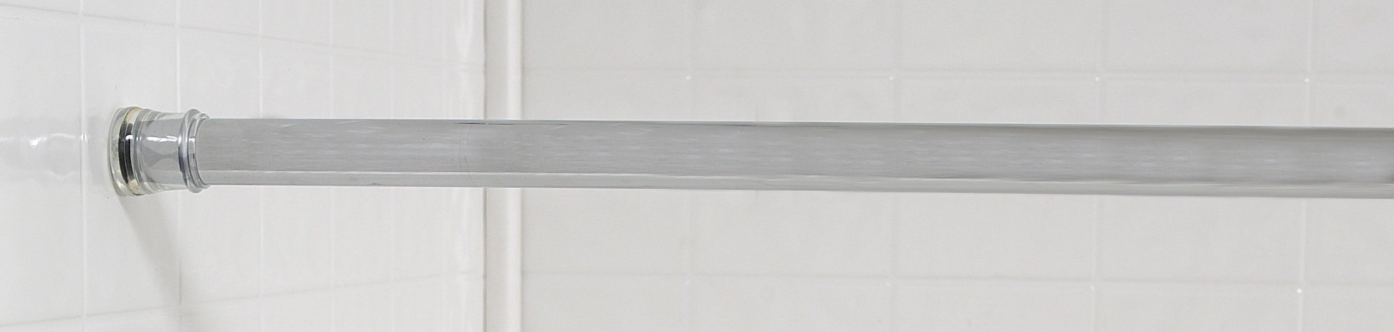 Royal Bath Steel Shower Curtain Tension Rod (41'' - 76'' Adjustable) - Chrome