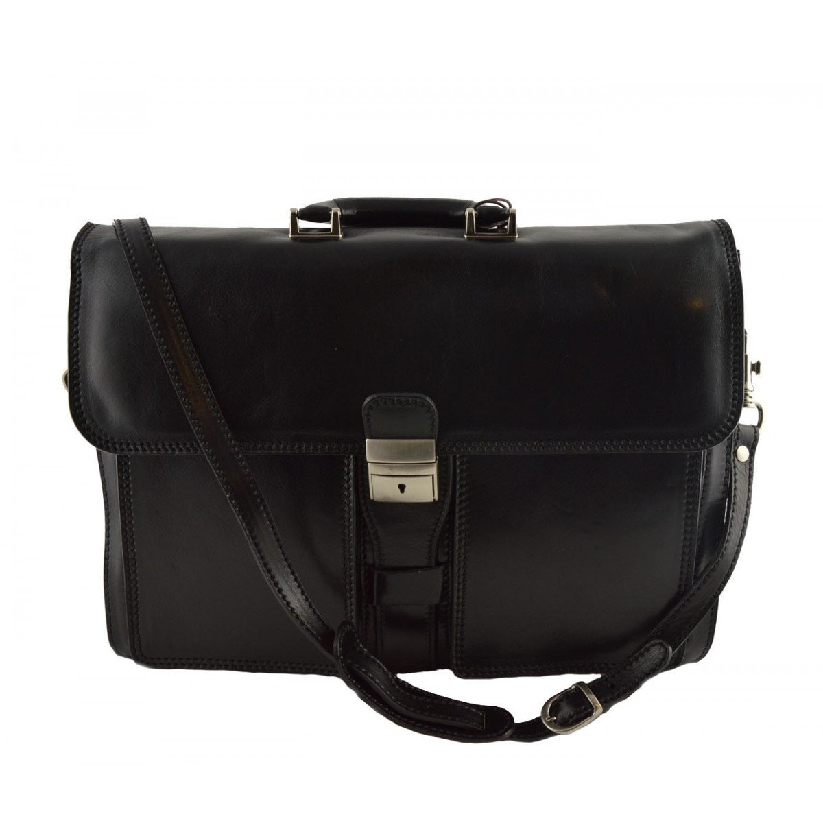 Leather Briefcase Color Black