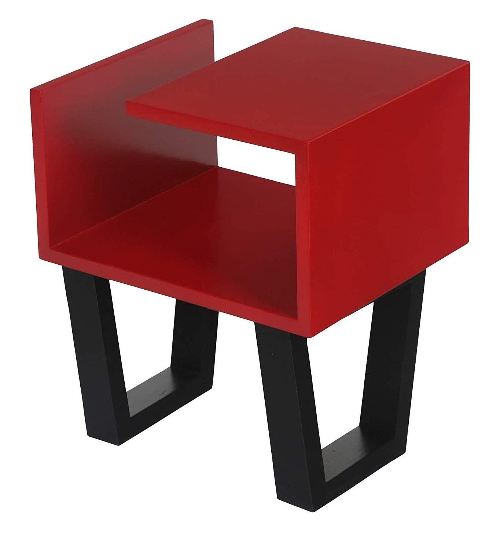 - Lycka Birch Wood Bedside End Tables For Living Room Bedroom Multi