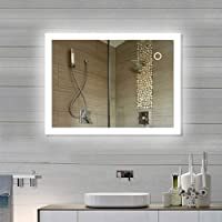 YIFAA LED Bathroom Mirror Square Light With Touch Switch Wall Mounted Illuminated Bathroom Mirror For Makeup Cosmetic