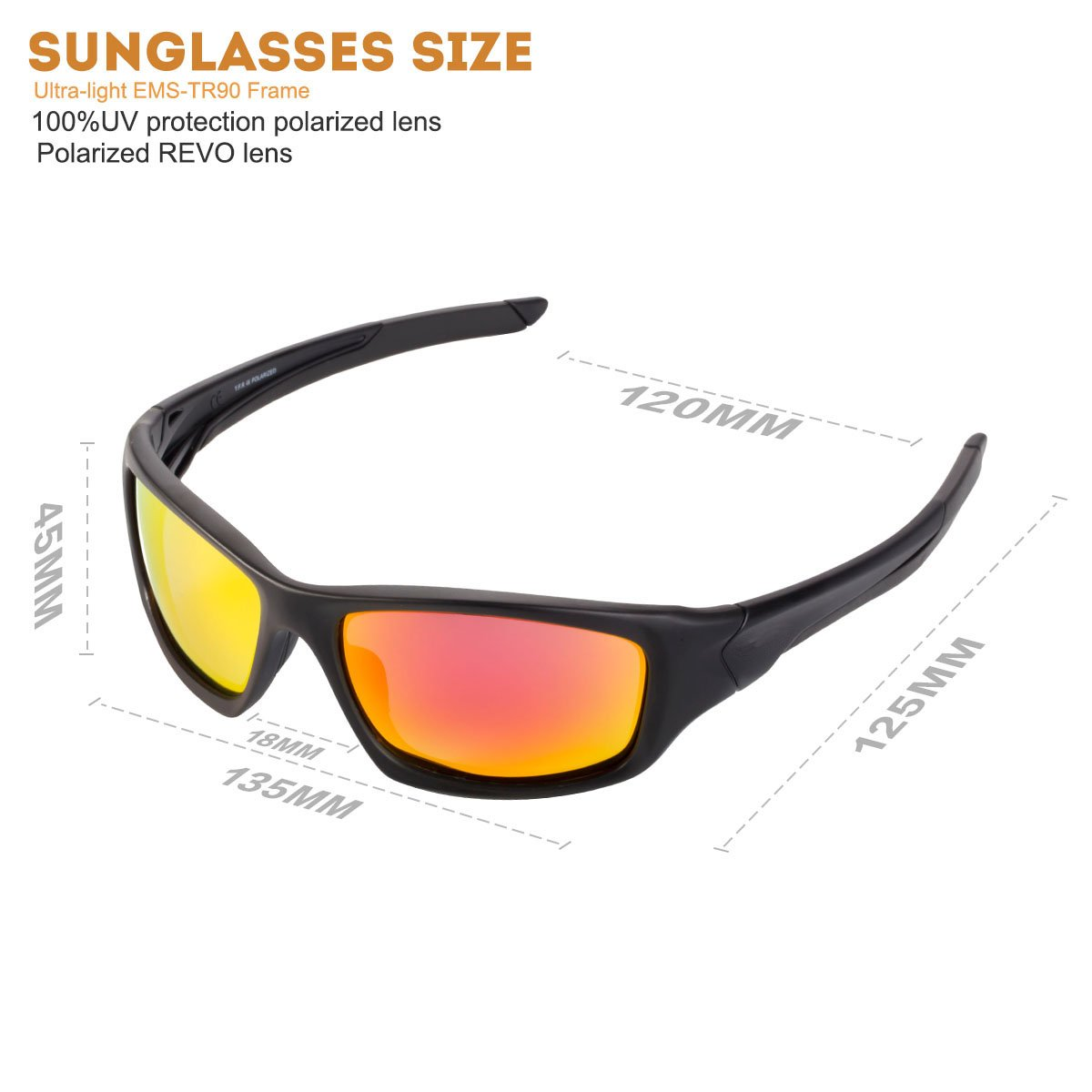 1a56551448 Beateff Polarized Sports Sunglasses for Men Women Running Cycling ...
