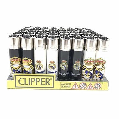 1Boîte de 48briquets Clipper officielle de Real Madrid os. rechargeables. Nouvelles.