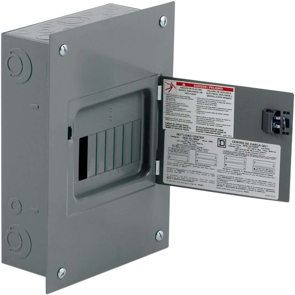 Square D by Schneider Electric QO612L100DF Square D, QO, 100A, 6 Space 12 Circuit Fixed Main Lugs Indoor Load Center
