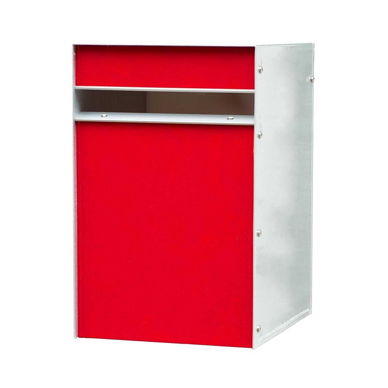 Box Design ポスト 郵便受け Designer Range b/o Red B00W6HW404 28620 Red Red