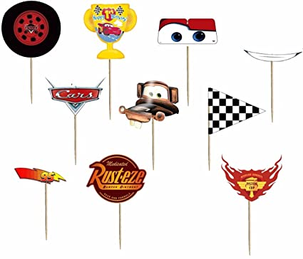 Buy Party Propz Mcqueen Birthday Photobooth Props 10 Pieces For