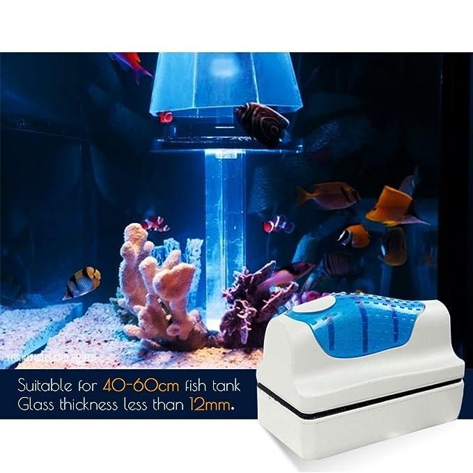 Hermao magnético acuario pecera de cristal algas rascador limpiador cepillo Scrubber Herramienta M: Amazon.es: Productos para mascotas