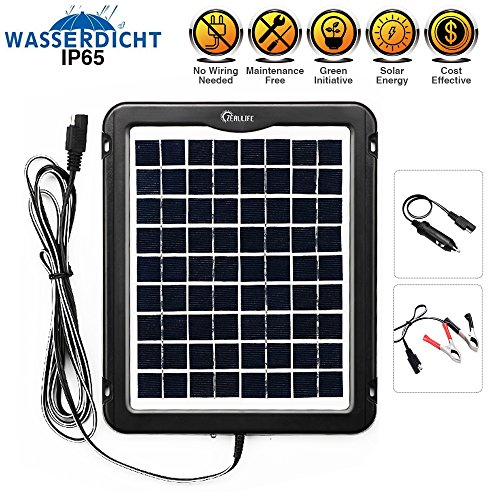 5 Watt Solar Panel Battery Charger - 9