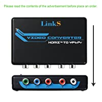 LinkS HDMI to Component Video (YPbPr) RGB 1080p + R/L Audio Output 2 Channels LPCM Converter Adapter Support PS3, PS4, Blu-ray DVD, XBOX, Notebook