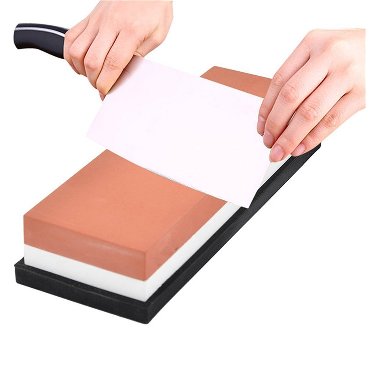 Whetstone — Lupan Double-Sided Knife Sharpening Stone Grit with sturdy non-slip rubber Base (3000/8000) by Lupan (Image #3)