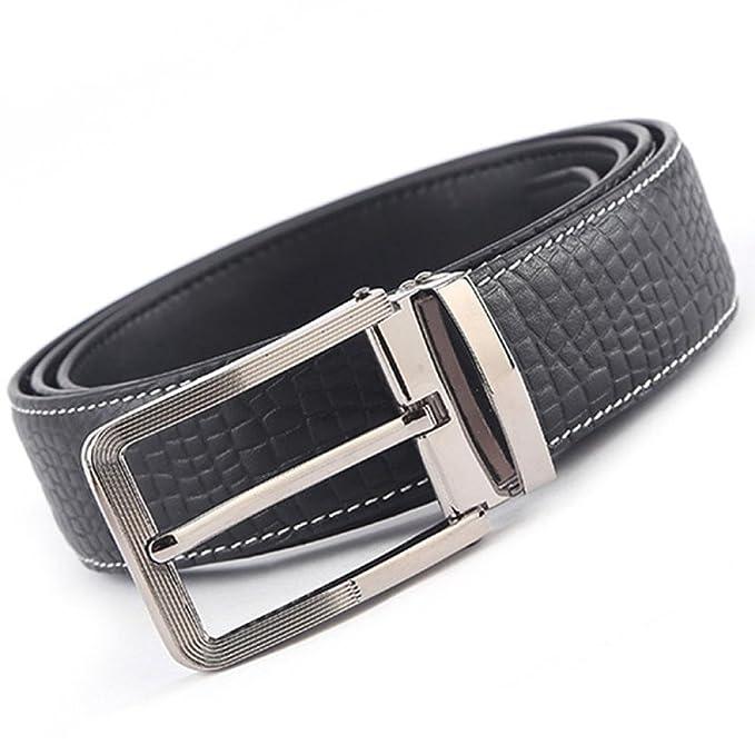 058f0f86a946 Correa De Cuero Para Hombre Faja De Aleación Hebilla De Pinza Pretina Para  Hombres Trabajo De Negocios Formal Wear Cinturón De Cintura