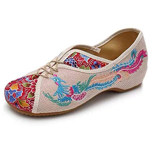 lowest discount uk availability united states Embroidered Chinese Style Flats Ballet Embroidery Crafts Women's Shoes Red  White Black Blue