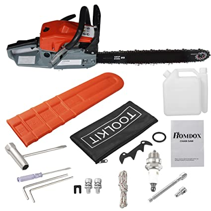 Amazon com: UPMIK Chainsaw 2 Stroke 52cc 20inch Saw Blade