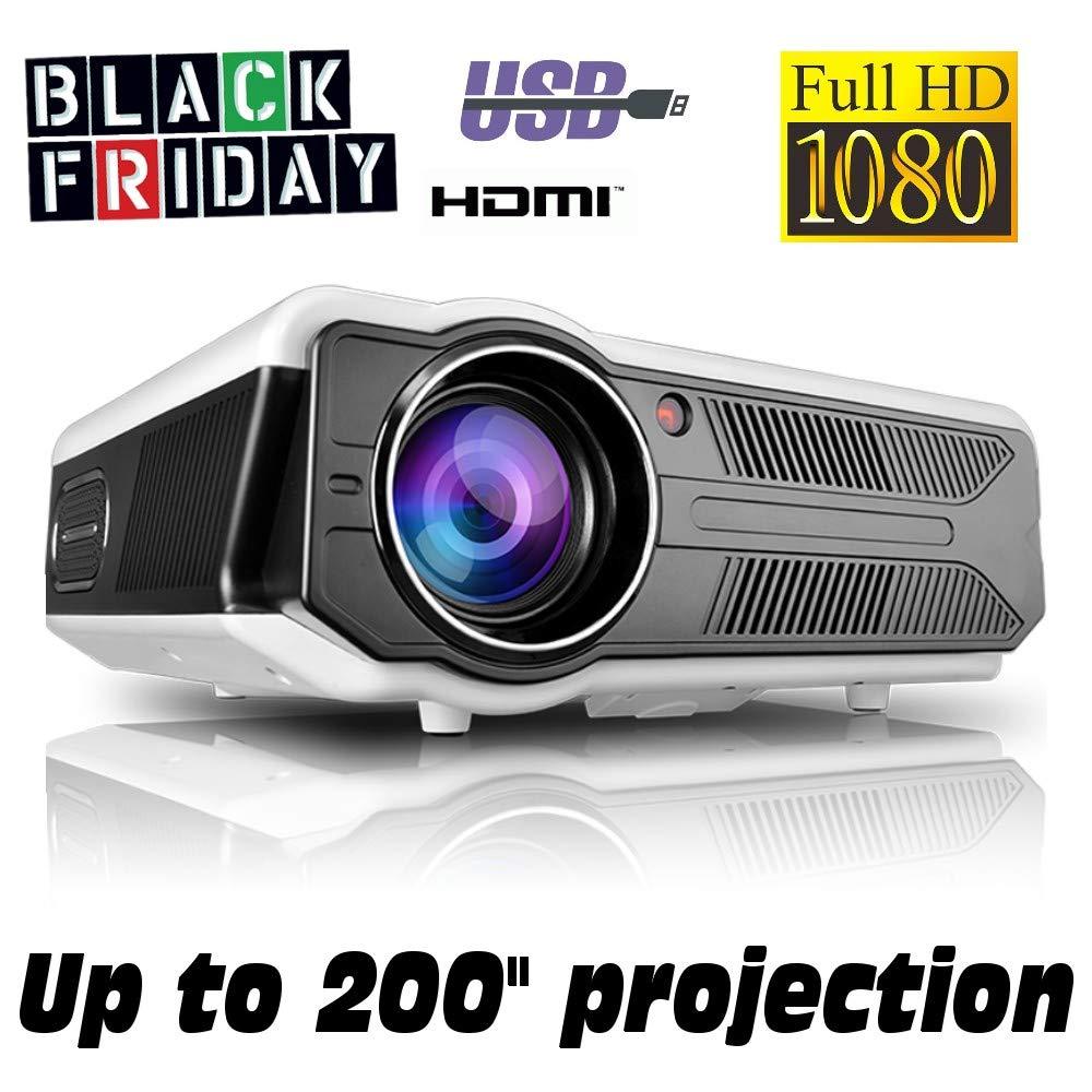 Proyector Black Friday Full HD 1080P, XSAGON Version 2019 Proyectores 3500 LED Lú menes Portá til Proyectores LED, LCD 1920x1080, 2 HDMI, VGA, 2 USB, para PS4, Xbox,Switch,PC,Bluray