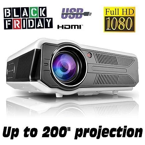 Proyector Black Friday Full HD 1080P, XSAGON (Nueva Version 2019) Proyectores 3500 LED