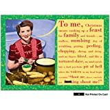 NobleWorks ''Somebody Shoot Me'' Funny Merry Christmas Greeting Card, 5'' x 7'' (1421)