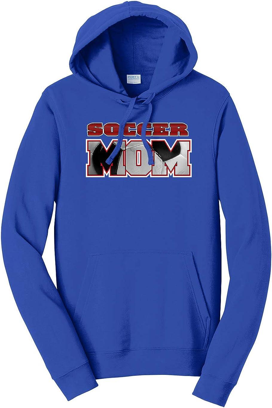 Tenacitee Unisex Soccer Mom Ball Cutout Hooded Sweatshirt