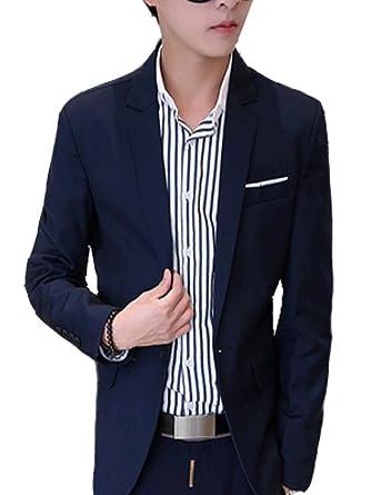 XFashion_EU - Chaqueta de traje - para hombre Azul azul ...
