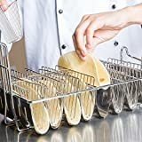 tortilla fry basket - Winco TB-8, Taco Basket For 8 6-Inch Shells, Deep Fryer Taco Holder Basket, Commercial Heavy-Duty Taco Fry Basket with Grip Handle