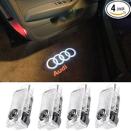 2Pcs For RIICH LOGO WIRELESS LED Car Door Step Courtesy Shadow Laser Lights