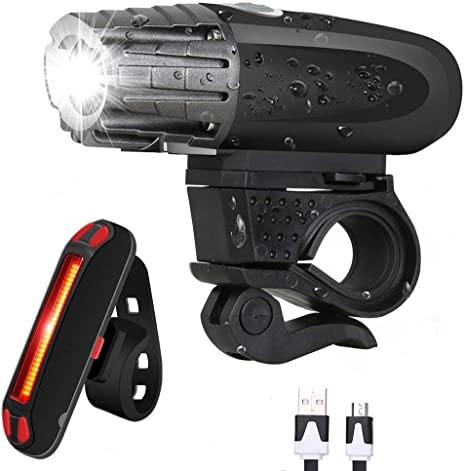 SLCSL USB Recargables Faro LED Bicicleta y Mountain Bike y Calle ...
