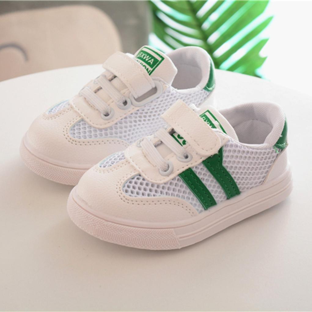 Zapatillas para Bebéss Niñas Zapatillas Niño Malla Zapatillas para Bebés Soft Soled Sneakers de Rayas Zapatos de Bebé Zapatillas de Deporte Transpirables ...