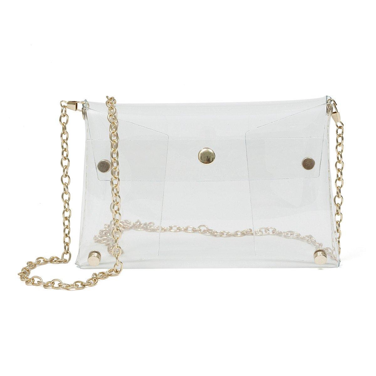 Zarapack Womens Transparent Messenger Shoulder Bag