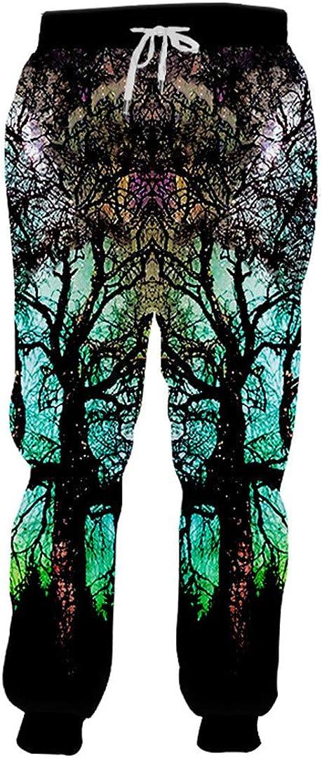 Space Galaxy Tree 3D Print Joggers Pants Men Women Gym Casual Hip Hop Sweatpants Trousers Rap Pants Plus Size