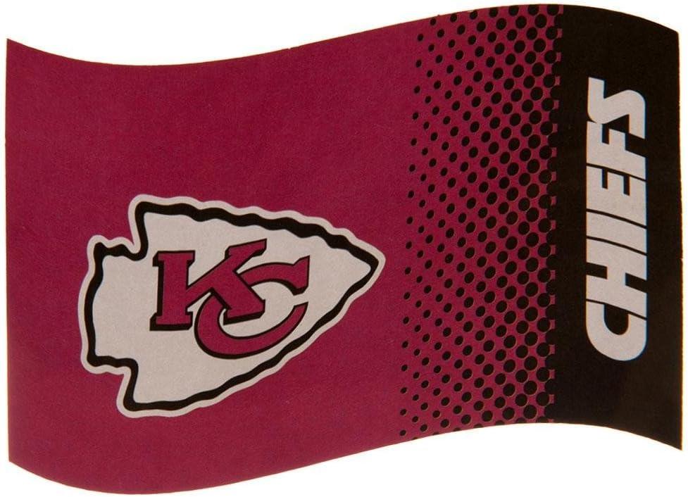 Kansas City Chiefs Flag FD NFL Bandera oficial NFL Merchandising: Amazon.es: Coche y moto