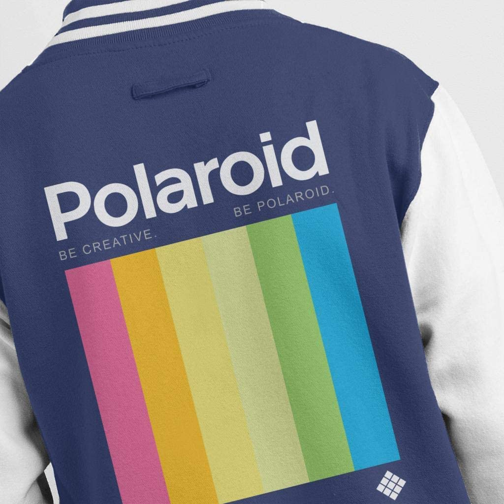 Polaroid Be Creative Be Men's Varsity Jacket Navy/White
