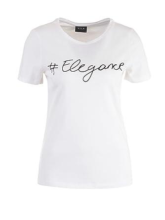 Vila Damen T-Shirt, Weiß (XS)