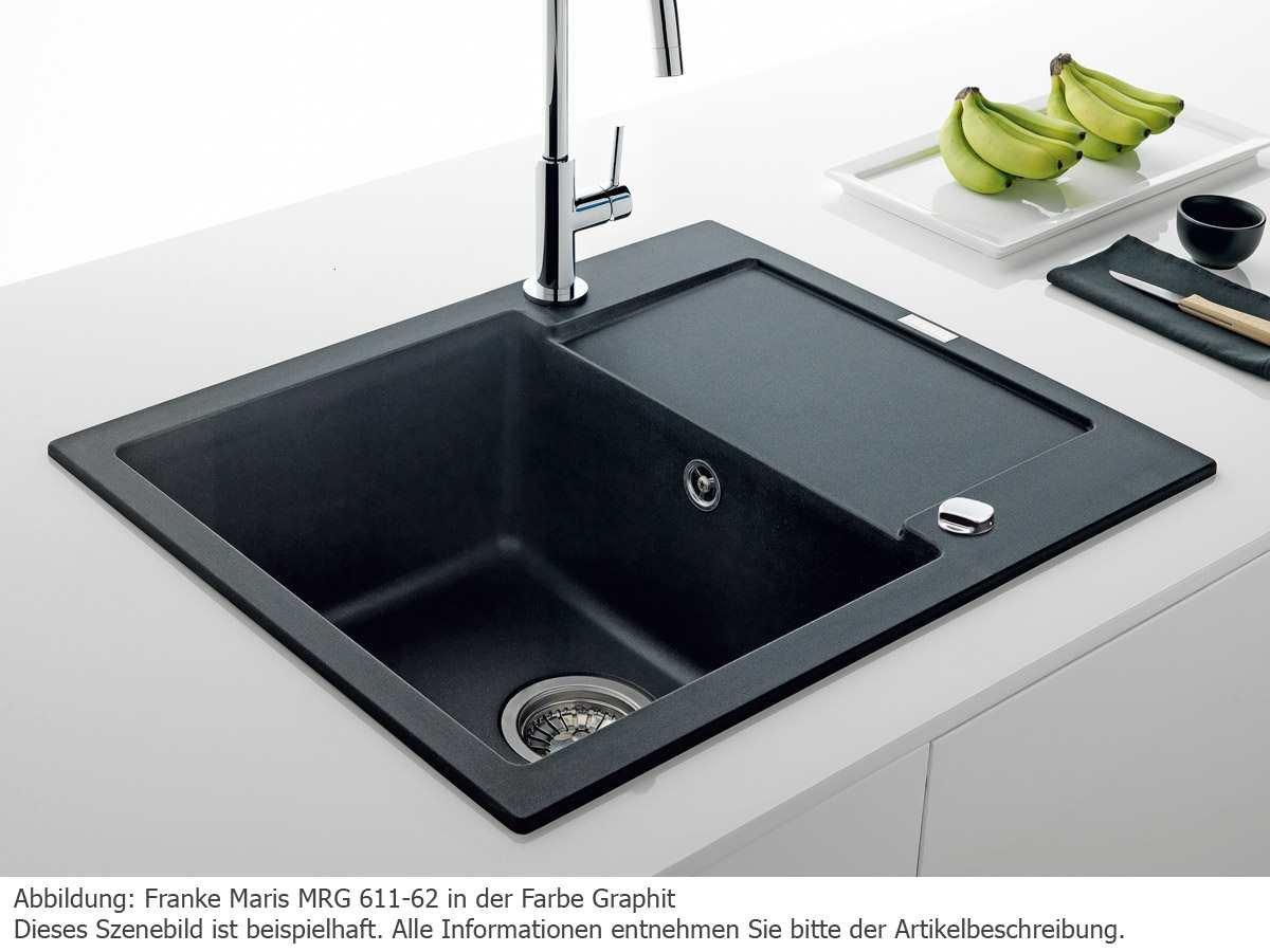 Franke Maris Mrg 611 62 Onyx Noir Evier De Cuisine Fragranit Evier