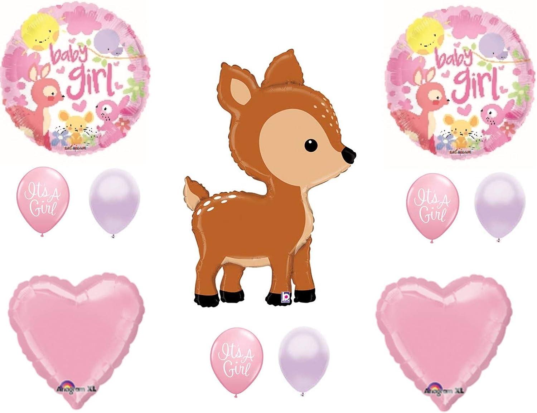 "Baby Shower 18/"" Foil Balloon It/'s a Girl Safari Print"