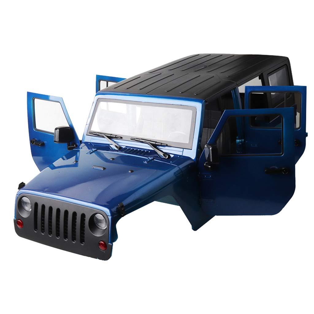 D DOLITY Shell Marco de Carrocería Accesorios para 1:10 RC Coches Axial SCX10 RC4WD D90 D110 - Azul