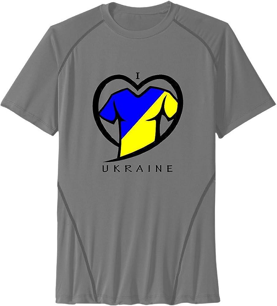 Men's I LOVE UKRAINE Sport Quick Dry Short Sleeves T-Shirt