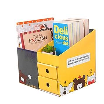 Jungen 1 pcs en caja de papel para oficina decoración oso doble cajón: Amazon.es: Hogar