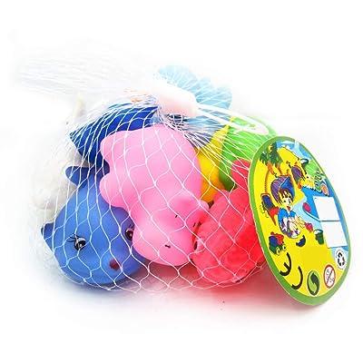 10pcs de goma del baño Squirt Juguetes coloridos clasificados baño Squirters bebé que baña los juguetes de los niños Piscina de agua flotante Sondeo animales de juguete: Juguetes y juegos