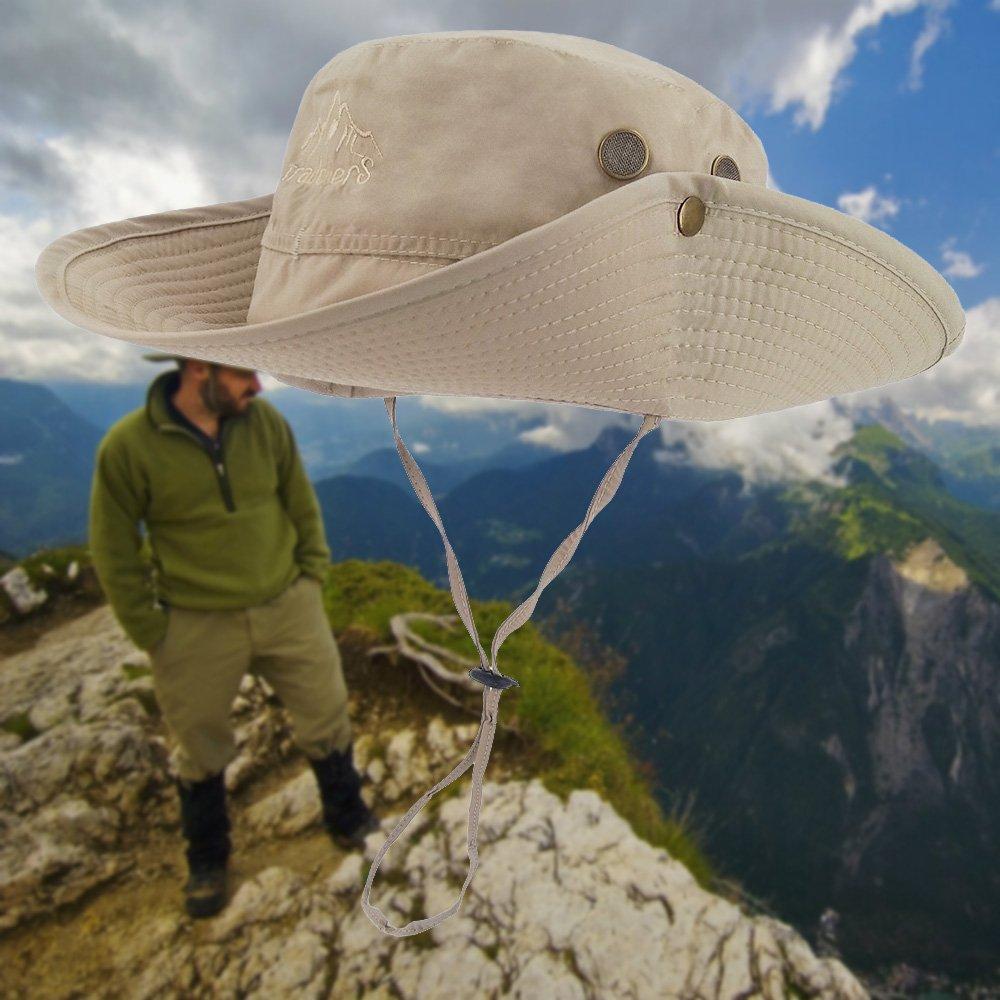 Safari LETHMIK Outdoor Boonie Hut mit breiter Krempe Angeln atmungsaktiv f/ür Jagd