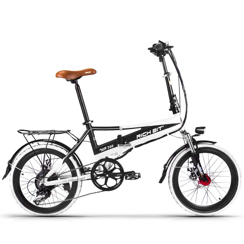 電動アシスト自転車 20インチ 折りたたみ ハイブリッドバイク 泥除け アクセル付き付き B078TDMH3N ホワイト ホワイト