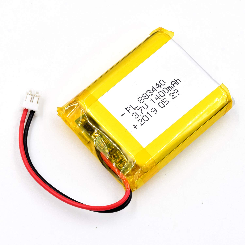 Bateria Lipo 3.7V 1400mAh 883440 Recargable JST Conector
