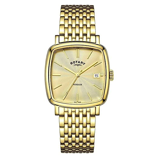 2f5a11b487c4 Rotary Mens Windsor Gold PVD Plated GB05308 03  Amazon.co.uk  Watches