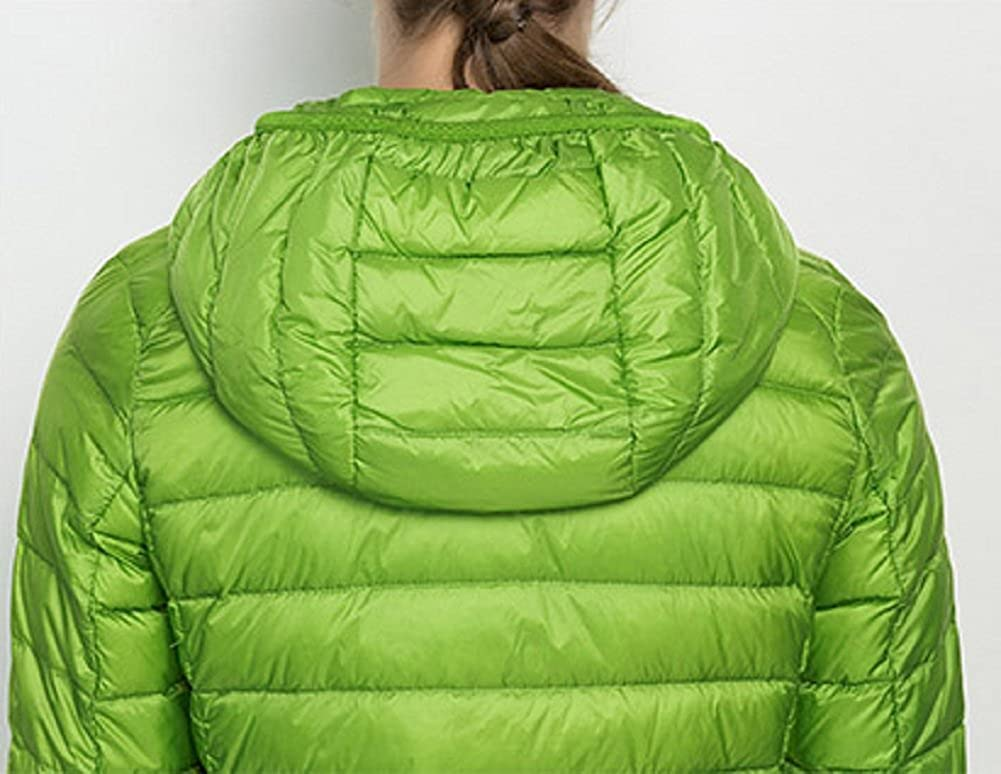 Sorrica Womens Candy Color Packable Down Hooded Jacket Winter Outerwear